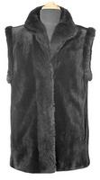 "28"" Sheared Mink Vest Natural Mink Trim Reversible to Taffeta"