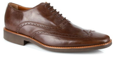 Michael Toschi Luciano Perf Wing Walnut Brush Off Shoes