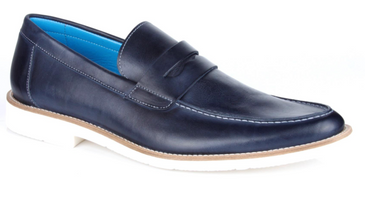 Michael Toschi Cabo Navy & White Shoes