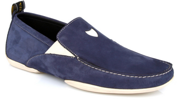 Michael Toschi Onda S Navy Suede Shoes