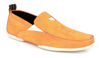 Michael Toschi Onda S Orange Suede Shoes