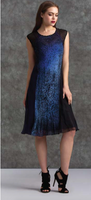 Komarov Deep Blue Gradient High Neck Dress