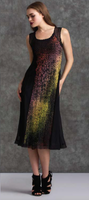 Komarov Red, Green, and Yellow Gradient High Neck Dress