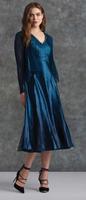 Komarov Deep Blue V-Neck Dress
