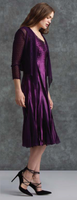 Komarov Deep Wine V-Neck Dress