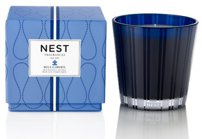 NEST Blue Garden 3-Wick Candle