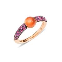 Pomellato M'ama Non M'ama Essonite Garnet with Pink Sapphire Ring