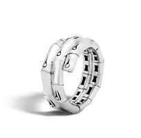 John Hardy Bamboo Coil Ring in Silver