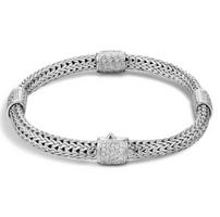 John Hardy Classic Chain Medium Four Chain Bracelet in Silver