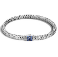 John Hardy Classic Chain Extra Small Bracelet with Blue Sapphire