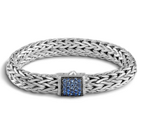 John Hardy Classic Chain Large Bracelet with Blue Sapphire