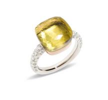 Pomellato Nudo Maxi Ring with Lemon Quartz and Diamonds