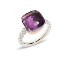 Pomellato Nudo Maxi Ring with Amethyst and Diamonds