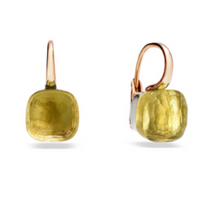 Pomellato Nudo Earrings with Lemon Quartz
