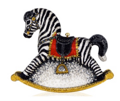 Judith Leiber Couture Toby Rocking Horse Clutch Bag