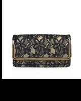 Judith Leiber Lenox Lame Lace Handbag