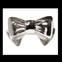Judith Leiber Silver Bow Handbag