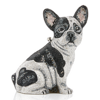 Judith Leiber Couture French Bulldog Fred Clutch Bag