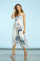 Komarov Floral Prism Scoop Neck Dress