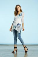 Komarov Floral Prism 3/4 Sleeve Tunic