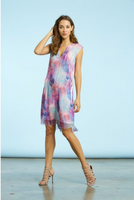 Komarov Summer Sky V-Neck Pocket Dress
