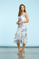 Komarov Midsummer Bloom Tiered V-Neck Dress