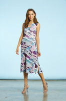 Komarov Modern Glass Sleeveless Pocket Dress