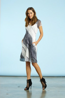 Komarov Ink Button Up Dress