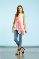 Komarov Coral Breeze Uneven Tunic