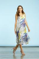 Komarov Botanical Breeze Asymmetrical Dress