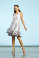 Komarov Pink Smoke Ombre Chiffon Dress