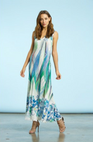 Komarov Rainforest Breeze Sleeveless Long Dress