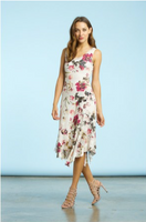 Komarov English Bloom Sleeveless Lace Dress