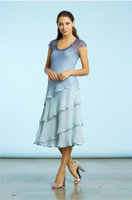 Komarov Blue Glass Night Ombre Flute Dress