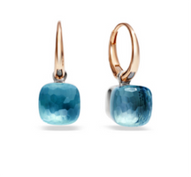 Pomellato Nudo Petite Earrings with Blue Topaz
