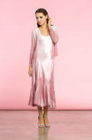 Komarov Pink Rose Ombre Jacket and Dress Ensemble
