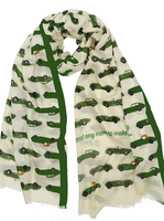 On Your Marque Jaguar Automobile Scarf Green/Pearl