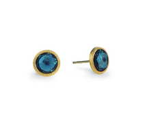 Marco Bicego 18K Yellow Gold and London Blue Topaz Stud Earrings