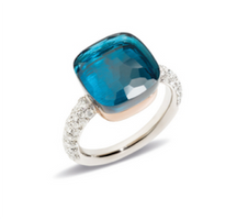 Pomellato Nudo Maxi Ring with London Blue Topaz and Diamonds