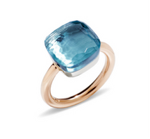 Pomellato Nudo Maxi Ring with Blue Topaz