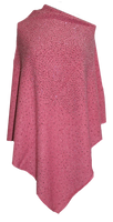 Augustina's Sparkly Poncho - Watermelon Red