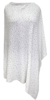 Augustina's Embellished Poncho in Winter White