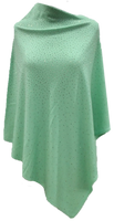 Augustina's Embellished Poncho in Green