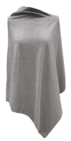 Augustina's Embellished Poncho in Grey