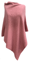 Augustina's Sparkly Poncho - Dusty Rose