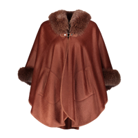 Augustina's Cashmere and Wool Maple Cape