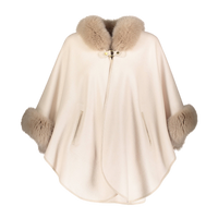 Augustina's Cashmere and Wool Vanilla Cape