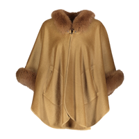 Augustina's Cashmere and Wool Camel Cape