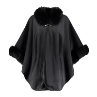 Augustina's Cashmere and Wool Black Cape