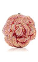 Judith Leiber Apricot Rose Clutch